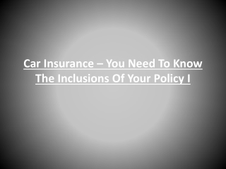 Coverage Offered by Car Insurance Policies
