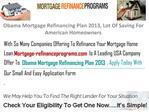 Obama Mortgage Refinancing Plan 2013