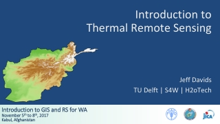 Thermal Remote Sensing