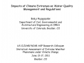 Impacts of Climate Extremes on Water Quality Management and Regulations
