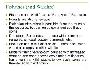 Fisheries (and Wildlife)