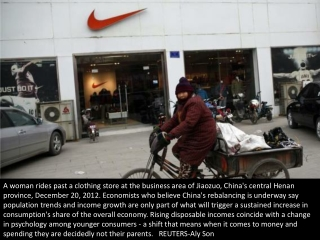 China's rising consumerism