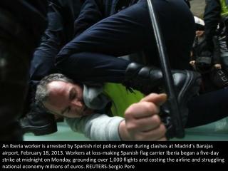 Clash at Madrid airport