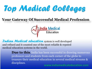 Top Medical Colleges - Your Gateway Of Successful Medical