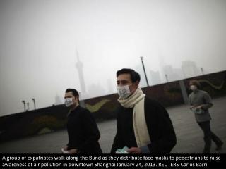Smoggy skies of China