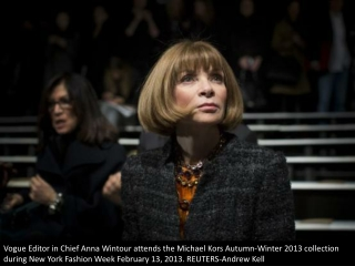 Front row: Anna Wintour