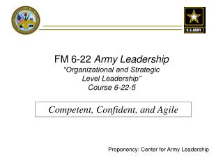"FM 6-22  Army Leadership ""Organizational and Strategic Level Leadership"" Course 6-22-5"