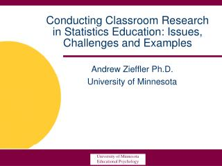 Conducting Classroom Research in Statistics Education: Issues, Challenges and Examples