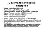 Governance and social enterprise