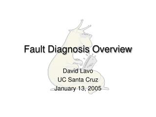 Fault Diagnosis Overview