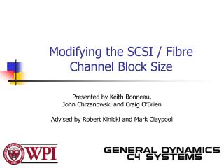 Modifying the SCSI / Fibre Channel Block Size