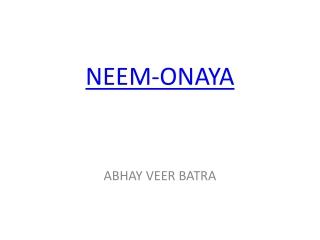 Neem-Onaya