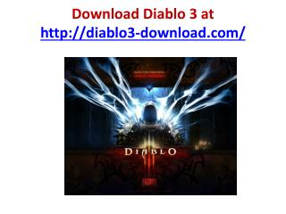 diablo 3 download demo