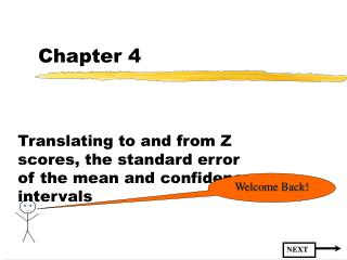 Translating to and from Z scores, the standard error of the mean and confidence intervals