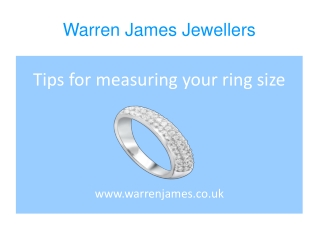 Tips for measuring your ring size.