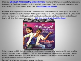 Ambikapathy Tamil Movie Review