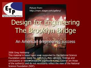 Design for Engineering The Brooklyn Bridge