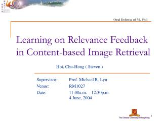 Learning on Relevance Feedback in Content-based Image Retrieval