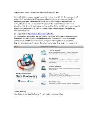 How to Recover Lost Data With Wondershare Data Recovery for