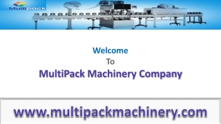 Filling and Secondary Packaging Machineries From Multi Pack