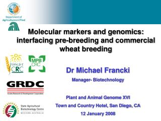 Molecular markers and genomics: interfacing pre-breeding and commercial wheat breeding