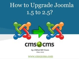 How to Upgrade Joomla 1.5 to 2.5