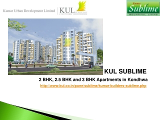 2 BHK, 2.5 BHK & 3 BHK Apartments in Kondhwa at KUL Sublime