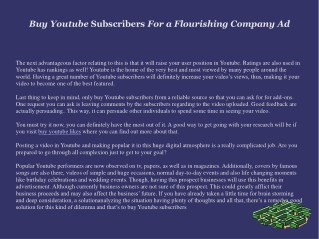 Buy Youtube Subscribers: An Effective Marketing Strategy