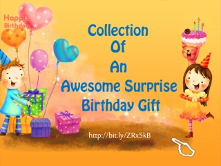 Awesome Surprise Birthday Gift Ideas 2013
