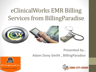 eClinicalWorks EMR billing services from BillingParadise