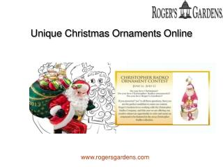 Unique Christmas Ornaments Online