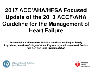 Heart Failure Management The Evidence
