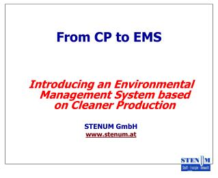 From CP to EMS