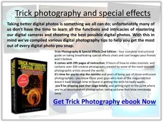 Professional Trick photography and special effects ebook