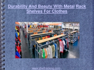 Durability and beauty with metal rack shelves for wine