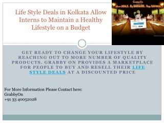 Life Style Deals in Kolkata Allow Interns to Maintain a Heal