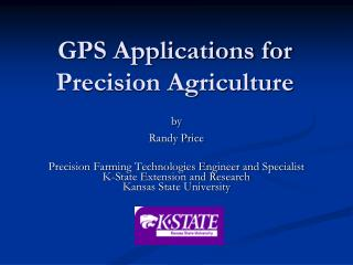 GPS Applications for Precision Agriculture
