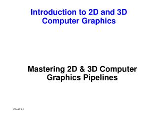 Mastering 2D & 3D Computer Graphics Pipelines
