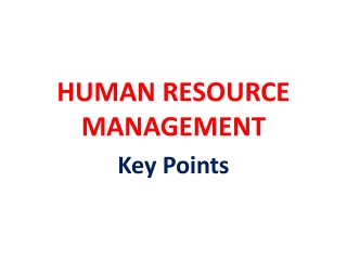 Cost effective resolution to  human resource challenges