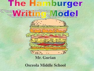 The Hamburger  Writing Model