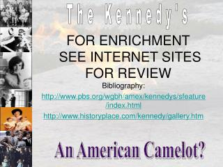 FOR ENRICHMENT  SEE INTERNET SITES FOR REVIEW
