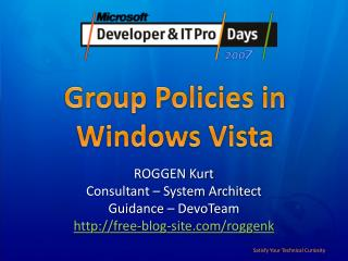 Group Policies in  Windows Vista
