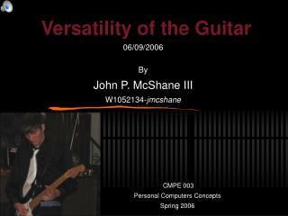 Versatility of the Guitar