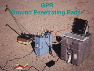 GPR  Ground Penetrating Radar