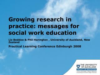 Growing research in practice: messages for social work education