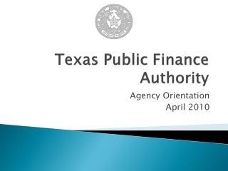 Texas Public Finance Authority