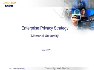 Enterprise Privacy Strategy