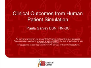 Clinical Outcomes from Human Patient Simulation