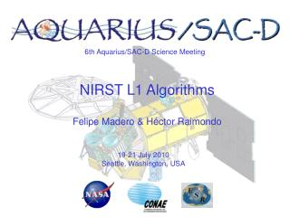 6th Aquarius/SAC-D Science Meeting