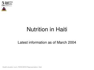 Nutrition in Haiti